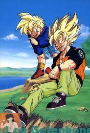 Goku and Gohan at the lake